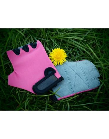 Vaikiškos rožinės spalvos pirštinės (1) dydis